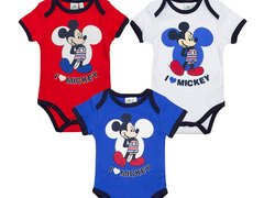 Body cu maneca scurta I love Mickey Mouse